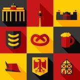 Satz von Deutschland Stockfotos