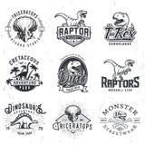 Satz von Dino Logos stock abbildung
