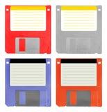 Satz von 4 Disketten stockfoto