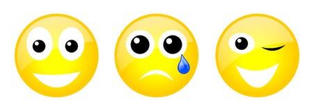 Satz Emoticons Lizenzfreie Stockfotos
