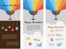 Satz von drei Karten mit Chanukka-infographics