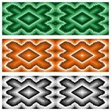 Satz von drei nahtlosen rhombischen Mustern Lizenzfreie Stockfotos