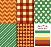 Satz von 5 einfachen nahtlosen geometrischen Mustern Lizenzfreie Stockbilder
