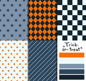 Satz von 5 einfachen nahtlosen geometrischen Mustern Stockbilder