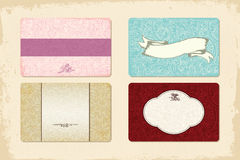 Satz von 4 eleganten Visitenkarten stock abbildung