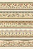 Satz von fünf dekorativen Grenzen dekorativ stock abbildung