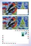 Satz von Gruß Weihnachtsbrief Lizenzfreies Stockfoto