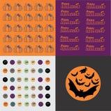 Satz von Halloween Stockbilder