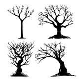 Satz von Halloween-Baum Lizenzfreies Stockbild
