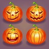 Satz von Halloween-Kürbis Lizenzfreie Stockfotos