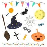 Satz von Halloween schreibt Vektorillustration zu lizenzfreie abbildung