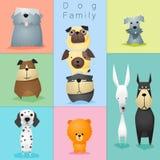 Satz von Hundefamilie 3 Lizenzfreies Stockfoto