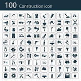 Satz von hundert Bauikonen Stockfotografie