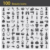Satz von hundert Schönheitsikonen Lizenzfreie Stockbilder