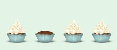 Satz von 4 kleinen Kuchen Stockbild