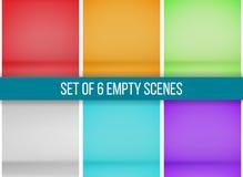 Satz von 6 leeren Szenen Lizenzfreie Stockfotografie