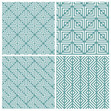 Satz von Linie vier auf quadratischen Mustern lizenzfreie abbildung