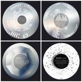 Satz von 4 Musikalbum-Abdeckung Schabloneen Auszug vektor abbildung