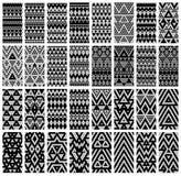 Satz von 24 Mustern. stock abbildung