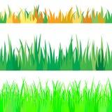 Satz von nahtlosem das Gras. Lizenzfreie Stockfotos