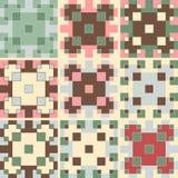 Satz von neun quadratischen Mustern Stockbilder