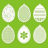 Satz von Ostern-Dekorationslaser-Ausschnitt Lizenzfreie Stockbilder