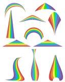 Satz von Regenbogen 12 Lizenzfreie Stockfotografie