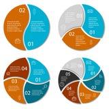 Satz von rundem infographic Lizenzfreie Abbildung