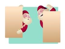 Satz von Santa Clauses für Weihnachtsvektorillustration Stockfotografie