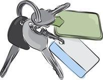 Satz von SchlüsselFederzeichnung Stockfoto