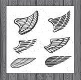 Satz von sechs Flügeln Lizenzfreies Stockfoto