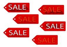 Satz von sechs Verkaufstext Lizenzfreie Stockbilder