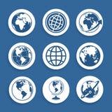 Satz von Symbole Planeten Lizenzfreie Stockfotografie