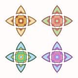 Satz von 4 symmetrischen geometrischen Formen stock abbildung