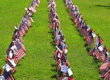 Satz von uns patriotische Flaggen Rot, Weiß und Blau Stockbilder