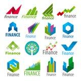 Satz von Vektorlogos Finanzierung Lizenzfreie Stockfotografie