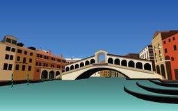 Satz von Venedig-Gebäude und von Architektur-Landschaft Stockbilder