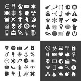 Satz von 100 verschiedenen allgemeinen Ikonen für Ihren Gebrauch Stockbilder