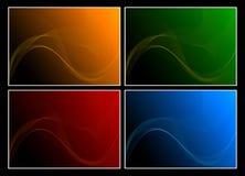 Satz von vier abstrakten Hintergründen Stockbilder