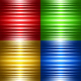 Satz von vier abstrakten Hintergründen mit leuchtenden Streifen Stockbilder
