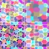 Satz von vier abstrakten nahtlosen Verzierungen Stockfotografie
