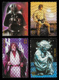 Star Wars-Charakter-Briefmarken Stockbilder