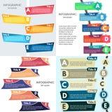 Satz von vier Elementen des infographic Designs Lizenzfreies Stockfoto