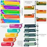 Satz von vier Elementen des infographic Designs Stockfotos