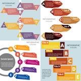 Satz von vier Elementen des infographic Designs Stockfotografie