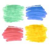 Satz von vier Farbenanschlägen Stockfotografie