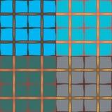 Satz von vier geometrischen nahtlosen Mustern Stockfotos