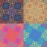 Satz von vier geometrischen nahtlosen Mustern Stockfoto
