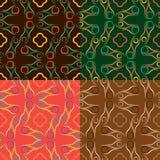 Satz von vier geometrischen nahtlosen Mustern Lizenzfreies Stockbild