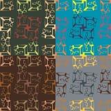 Satz von vier geometrischen nahtlosen Mustern Lizenzfreie Stockfotografie